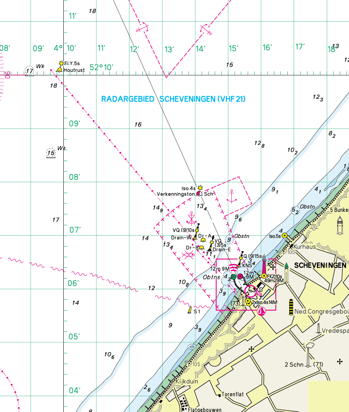 ATTACHMENT 1 Racing Area s (Chart not to be used for navigation) Please follow the route indicated by the black arrows when sailing to or from Kijkduin or Wassenaar Courses and avoid the other race