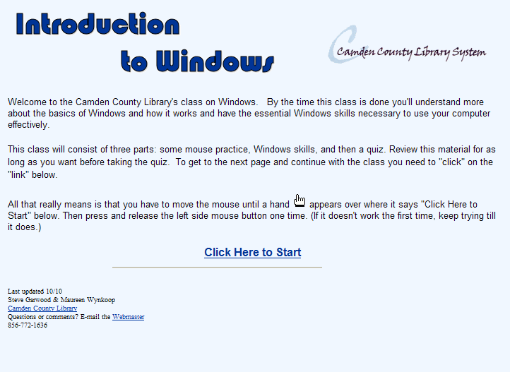 Introduction to Windows Tutorial Created by Camden County