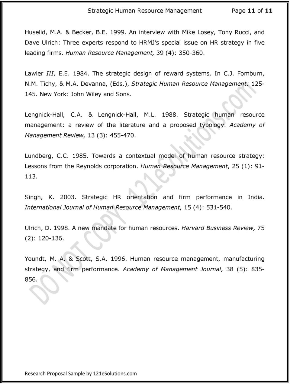 Phd Thesis Dissertation Human Resource Management