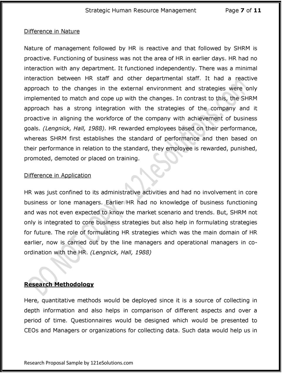 Phd research proposal human resource management