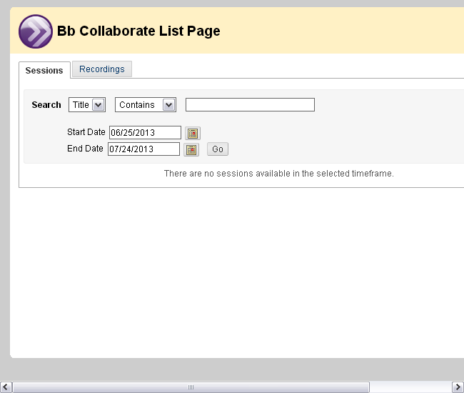 5. If your professor utilizes Blackboard Collaborate, you can also add a link to a session or his or her previous recordings to your text box.