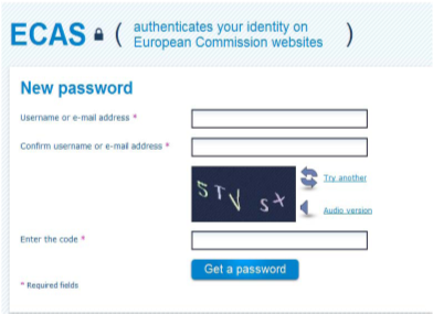 1. Create an ECAS user account As all the other European Commission applications, the Registry application requires the use of an authenticated user account.