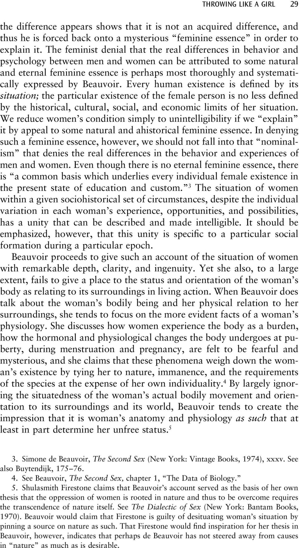 systematically expressed by Beauvoir.