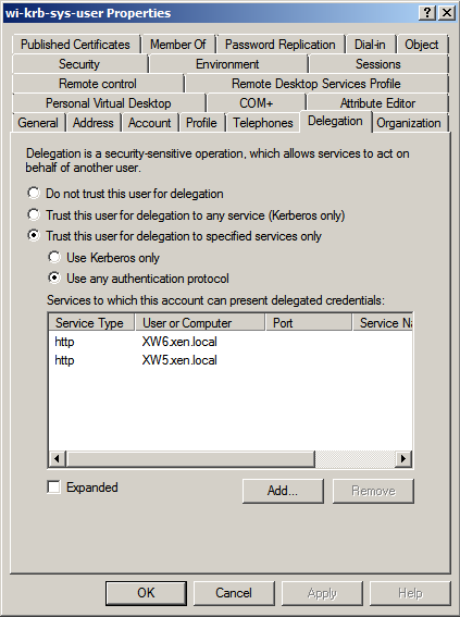 Figure 8: Creating an Active Directory user account 2. Set the account s serviceprincipalname attribute to the same user logon name value. You can either open ADSIEDIT.