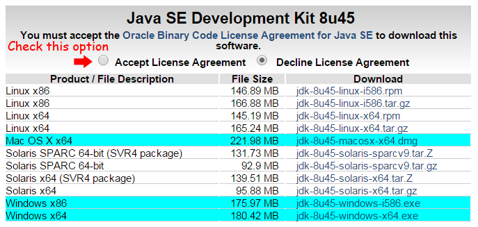 or JDK from: http://www.oracle.com/technetwork/java/javase/downloads/jdk8-downloads-2133151.html For installer of JDK 7, please refer to here.