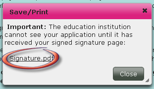Select the education programme you wish to approve and print the signature page for. Click on the Godkend (Approve) button to confirm your choice and generate the signature page.
