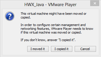 Step 6: Start the VM 6.1. Click the Play virtual machine link to start your HWX_Java VM.