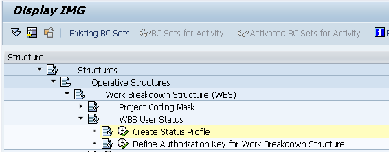 SAP Configuration of Events For customer statuses, you define the status