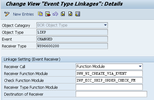 Event Linkage Check Function Modules - define specific criteria that must be met in order to raise