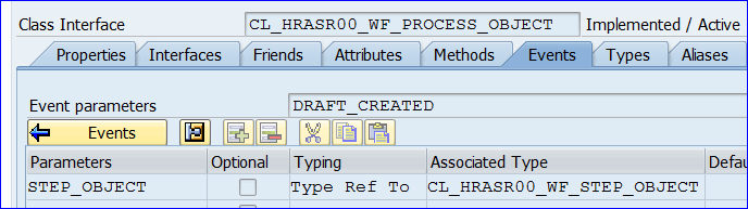Event of a ABAP Object Type The Event