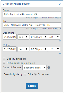 9e 9) Flight Search Results View a matrix with available airlines and prices. 9c a) Trip Summary: Overview of booking progress in the reservation.