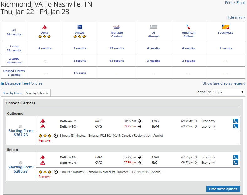 9) Flight Search Results Con t g) Seat Selection: Pick your seat for both your outbound and return flight.
