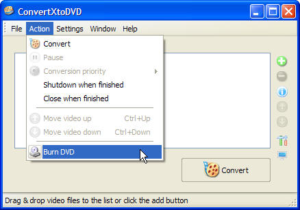 How to burn an already converted file Go here: Figure 39 Select the folder you would like to burn (by default ConvertXtoDVD opens a browser with the folder where you have your