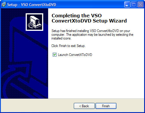 Shows the version history of ConvertXtoDVD: Figure 8 Announces that
