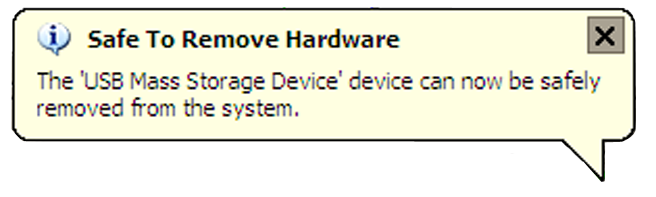 Removing Connected Drives WARNING! Do not remove a connected hard drive while the drive is in use. To prevent data loss or damage to the drive(s), please follow the instructions below.
