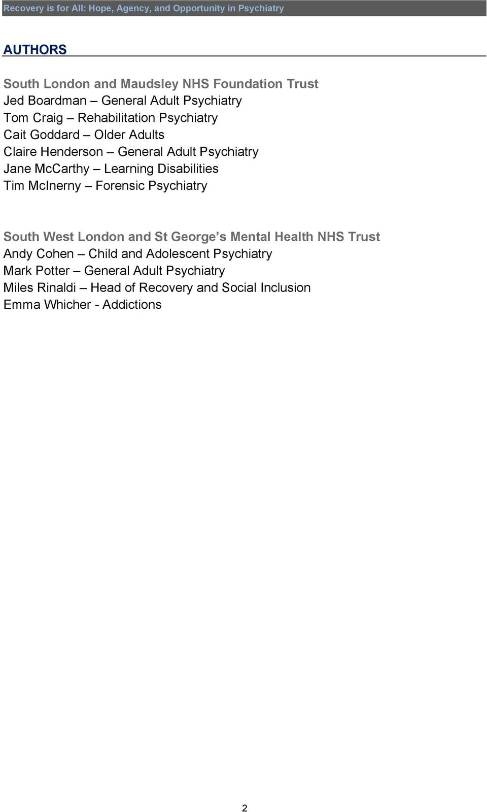McInerny Forensic Psychiatry South West London and St George s Mental Health NHS Trust Andy Cohen Child and Adolescent