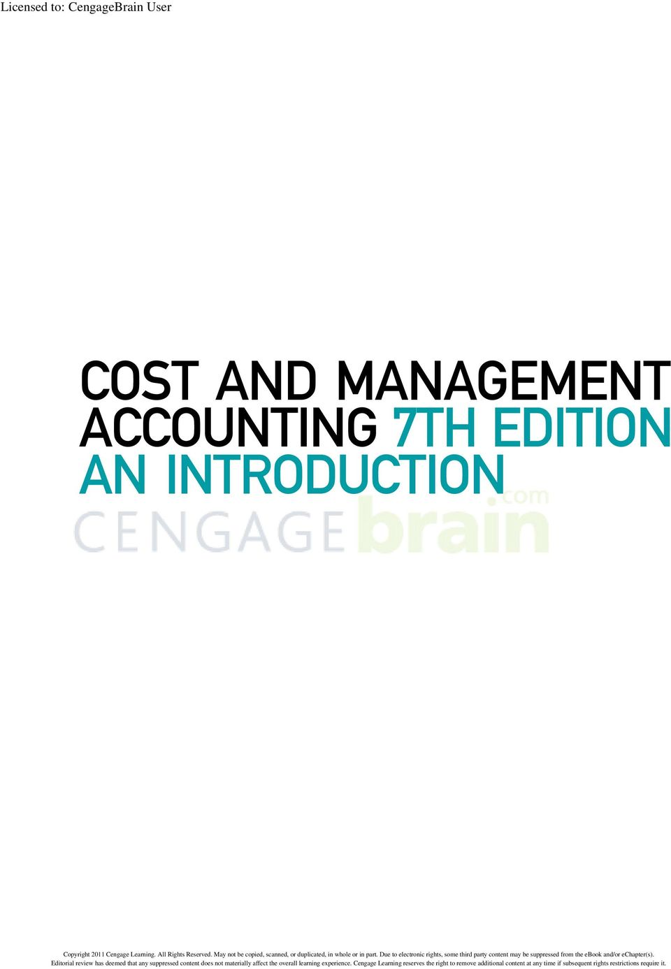 Cost and management accounting 7th edition an introduction pdf accounting 7th fandeluxe Gallery