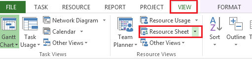 Resources Microsoft Project 2013 Resources are used when you want to indicate who or what is responsible for completing the tasks in your schedule.