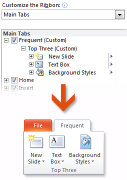 Keep your favorite commands nearby The Quick Access Toolbar in the upper-left corner of the Power- Point program window provides shortcuts to commands you ll use often.