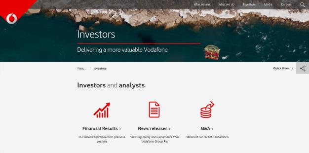 com/investor Contact us ir@vodafone.co.uk +44 (0) 7919 990 230 Follow us on