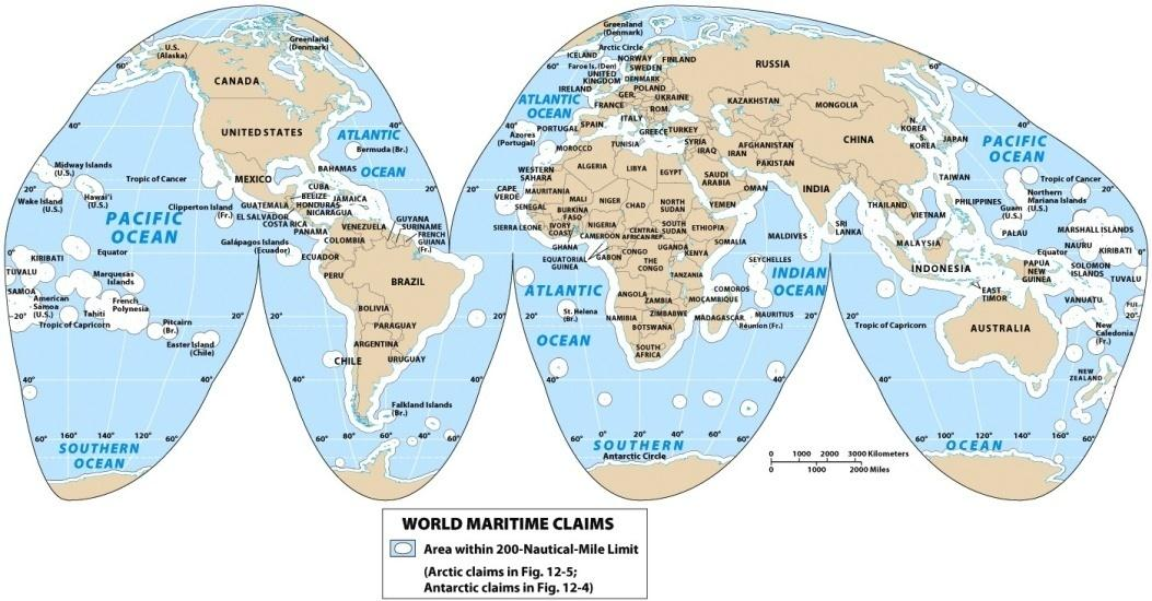 The Pacific Realm and Its Marine Geography: UNCLOS Intervention Concept Caching: Fishing Industry on Pago Pago, American Samoa Harm de Blij United Nations Conference on the Law of the Seas