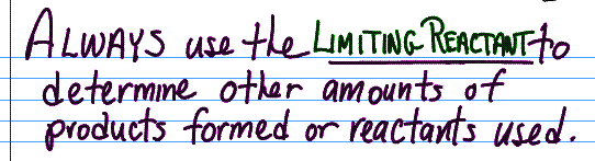 Excess and Limiting Reactant