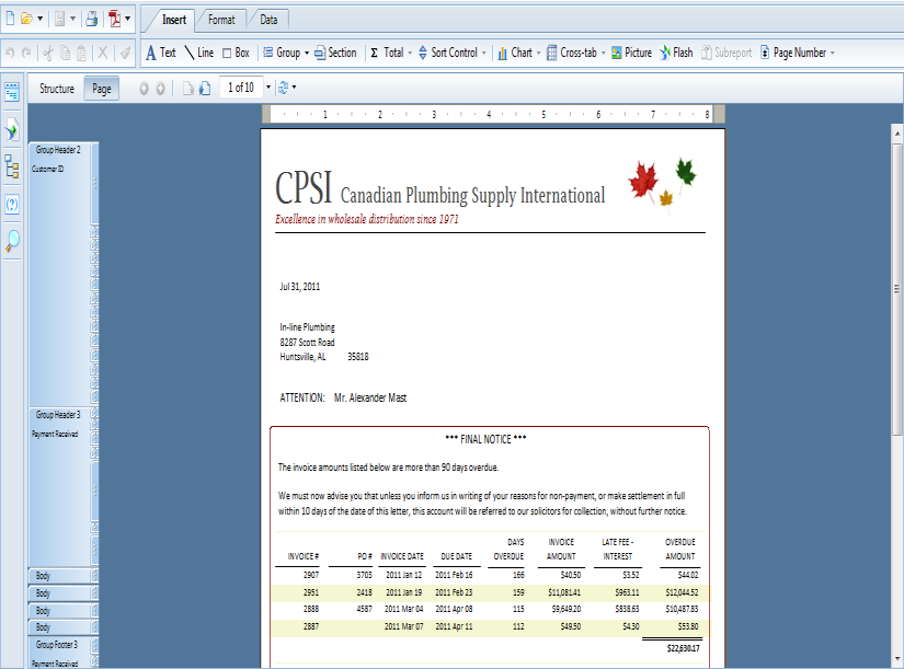 SAP Crystal Reports Individual Contributor Design well-formatted, layout-focused reports Create professional reports following strict layout presentation: legal, business, financial, and