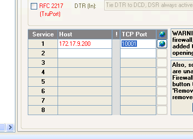 Figure 29: Assigning a Device to a Com Port 12. In the drop-down menu, click Add to Settings. The device is added in the Host column on the Settings tab.
