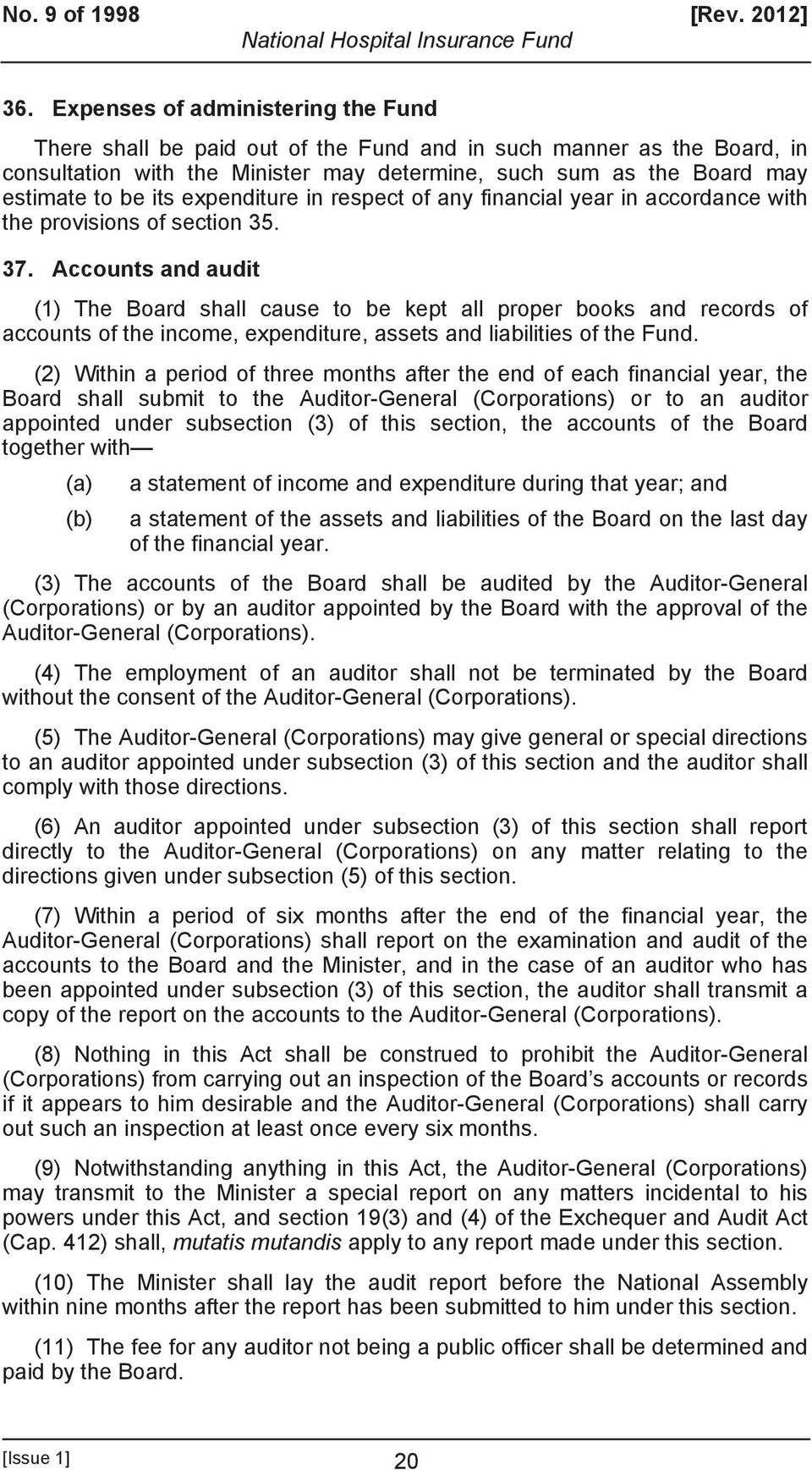 expenditure in respect of any financial year in accordance with the provisions of section 35. 37.