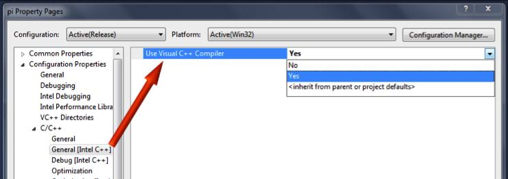 Step 4. Compile with Intel C++ Compiler in Intel C++ Composer XE 1. Look in the Solution Explorer pane of Microsoft Visual Studio and find the project in which the hotspot file(s) are located.