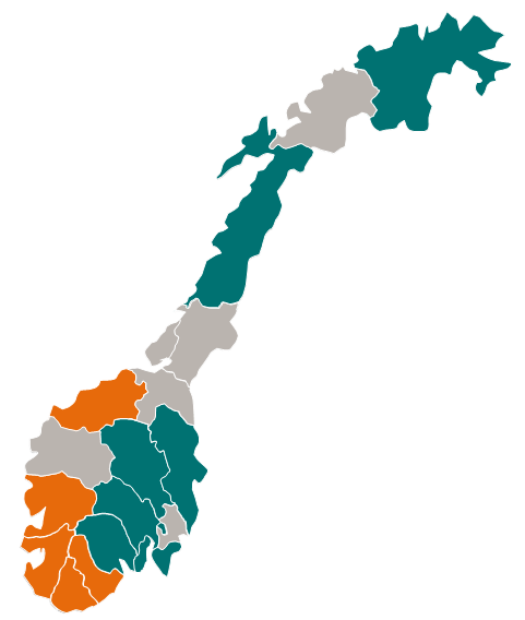 Unemployment will increase slightly but with regional differences Unemployment rate, adjusted Per cent 7 6 Norway The Nordics* 6.