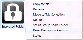 How to set up your security code for the encrypted folder Under My Collection, there is a folder named Encrypted Folder.
