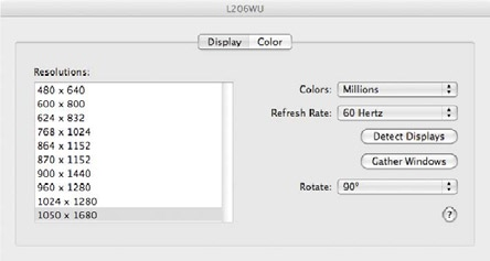 Here, you can set the secondary display to act as an extension of the primary desktop, or as a mirror image that duplicates the contents on the primary display.