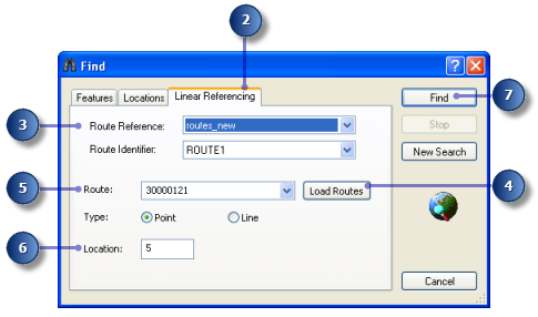 Finding route locations In many linear referencing applications, you will discover that you will often need to find a location along a route.