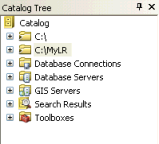 The new folder connection is now listed in the Catalog tree.