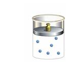 Free Response problems 1. 2 moles of a monatomic ideal gas is placed under a piston in a cylindrical container. The piston can move freely up and down without friction and its diameter is 20 cm.