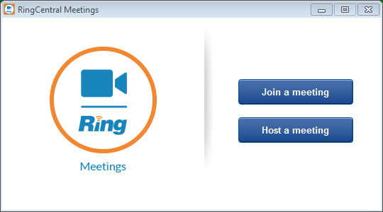 RingCentral for Desktop Launch an online meeting Launch an online meeting You can hold an online video meeting at any time using RingCentral Online Meetings and start it directly from RingCentral for