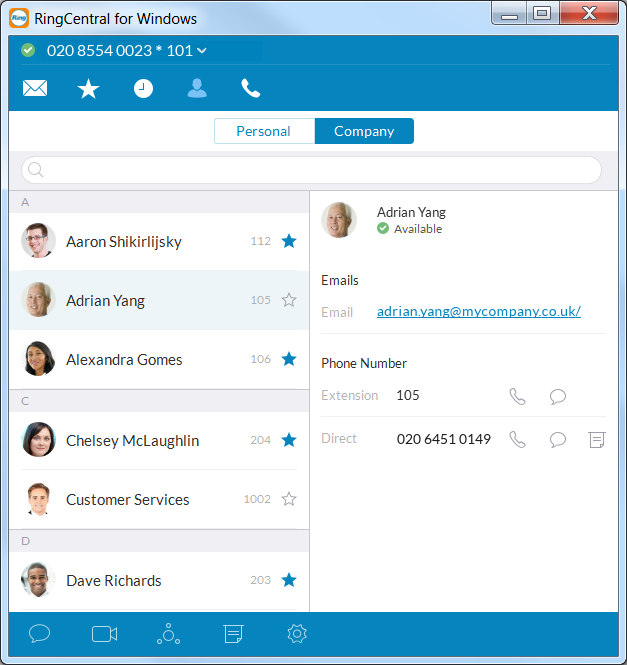 RingCentral for Desktop Contacts: Add or update your contact list Contacts: Add or update your contacts list The Contacts list is your online address book.