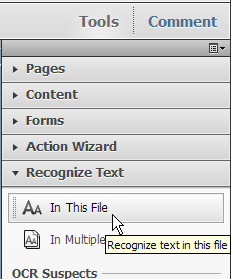 Recognize Text in a Scanned PDF If you receive a PDF that is simply a scanned
