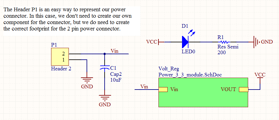 Figure 37: Top Level Schematic with Sheet Symbol The way you create symbols or modules and the amount of the schematic you wish to represent in each symbol is up to you.