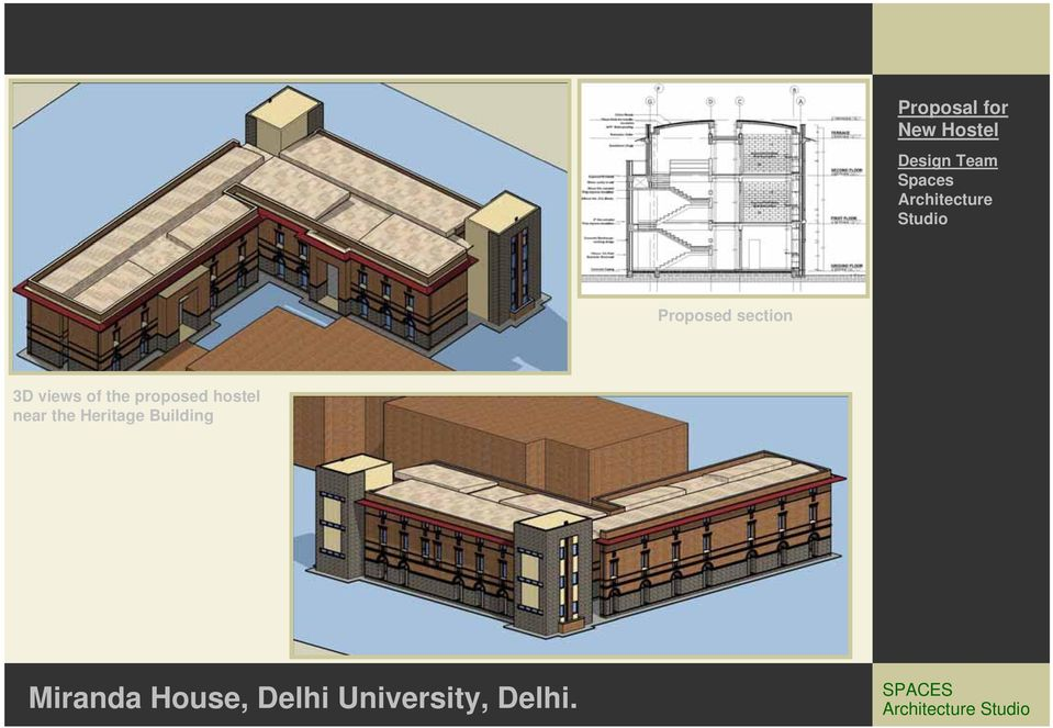 views of the proposed hostel near the