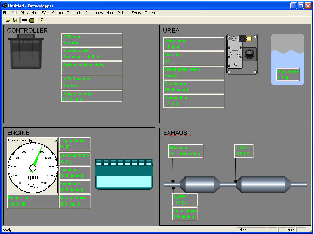 STT monitoring systems Control cabinet PC based software for system monitoring.