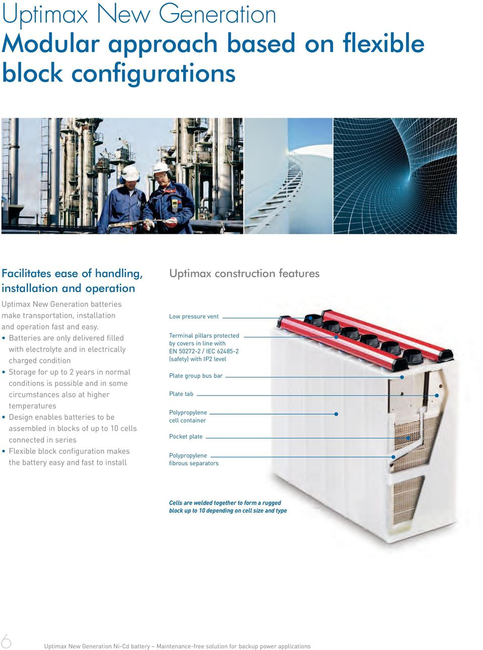 Batteries are only delivered filled with electrolyte and in electrically charged condition Storage for up to 2 years in normal conditions is possible and in some circumstances also at higher
