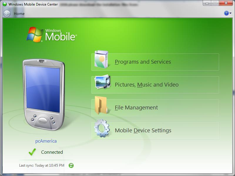 Windows Mobile Device