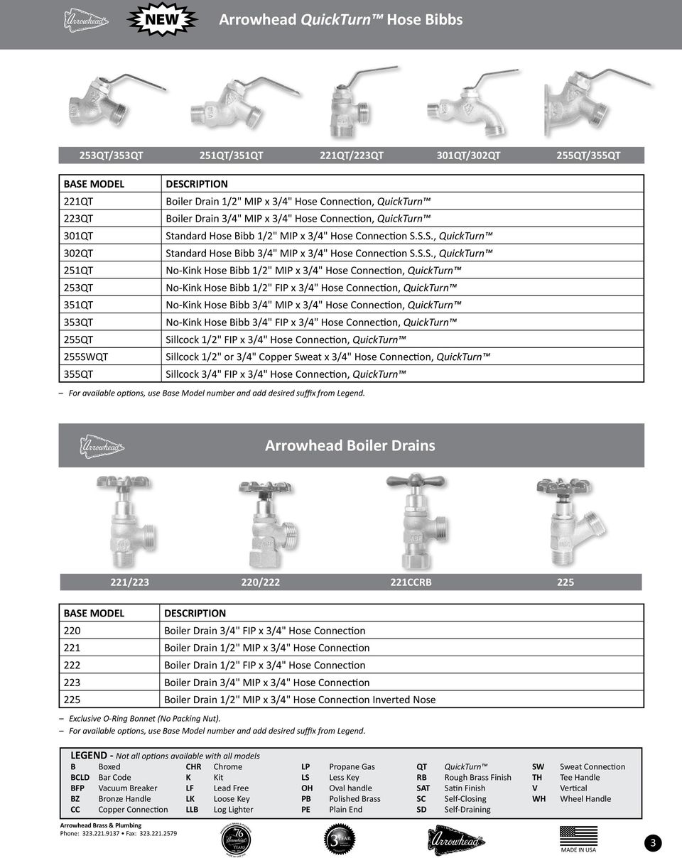 Arrowhead Brass Amp Plumbing Commercial And Residential