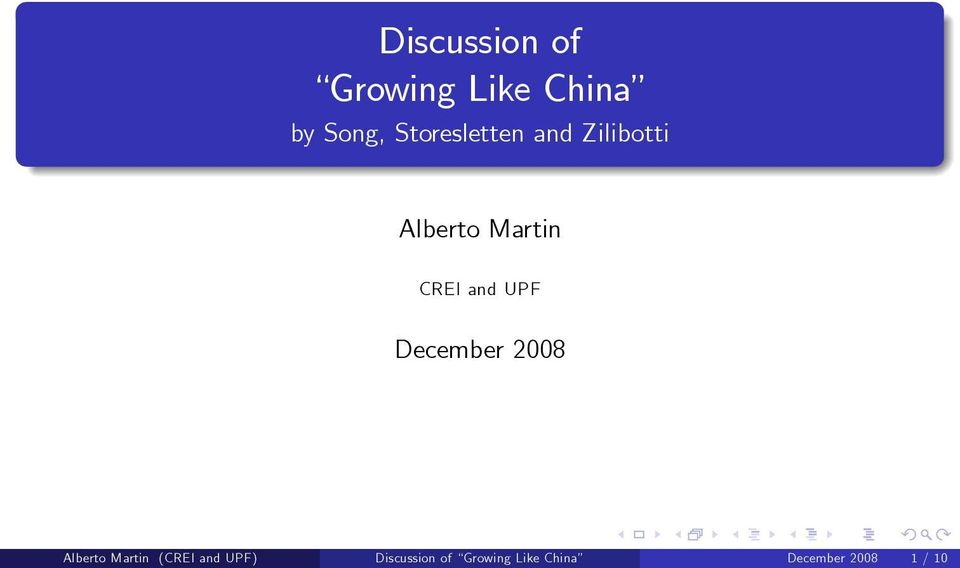 and UPF December 2008 Alberto Martin (CREI and