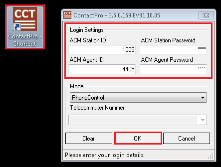 7.3. Verify CCT ContactPro EMC Presence and Instant Messaging From the client PC open the application ContactPro EMC (shortcut is shown below).