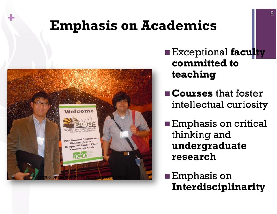 on critical thinking and undergraduate research 5 Honors