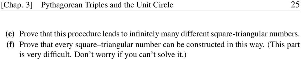 procedure leads to infinitely many different square-triangular numbers.