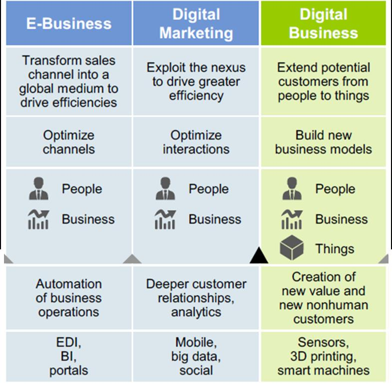 Digital Business Focus Outcomes